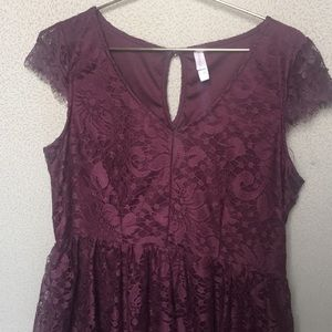 Plum lace dress size XL